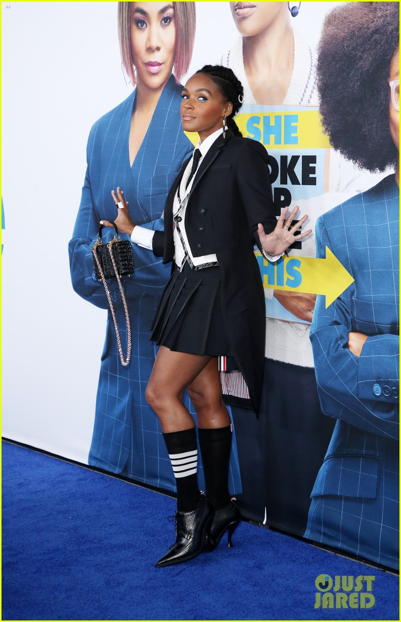 kelly rowland janelle monae support little cast at l a premiere 18