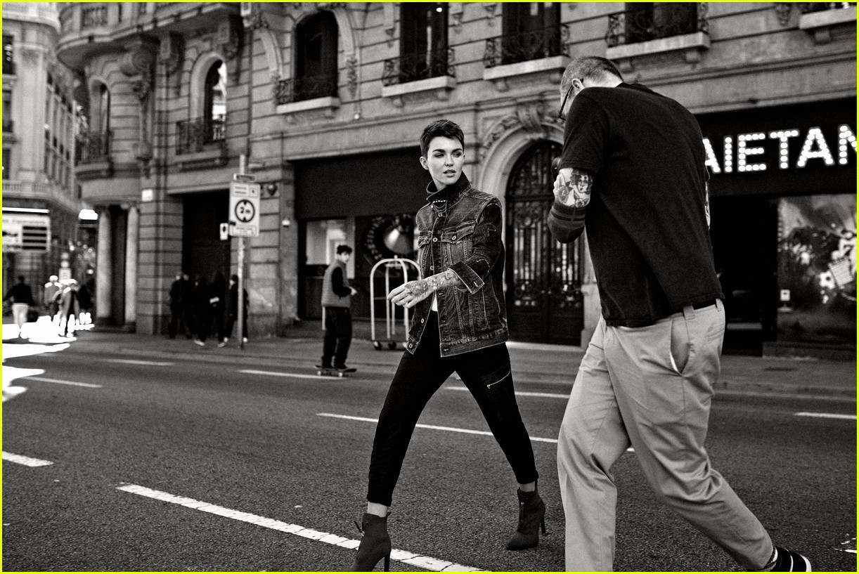 ruby rose g star raw spring summer 2019 campaign 04