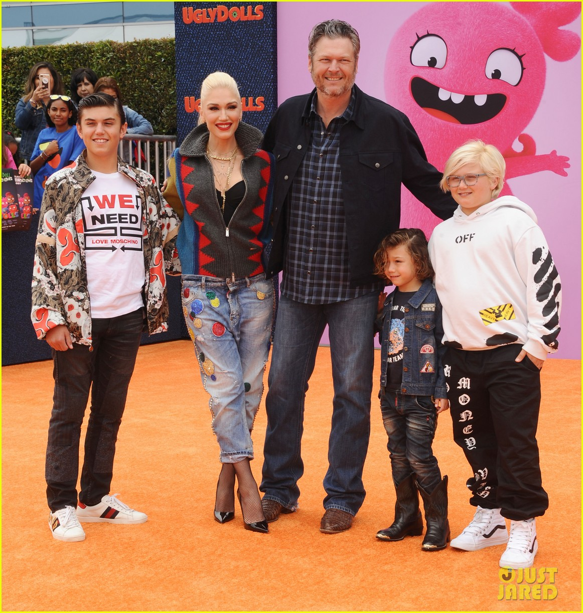 blake shelton gwen stefani her kids ugly dolls premiere 064278532
