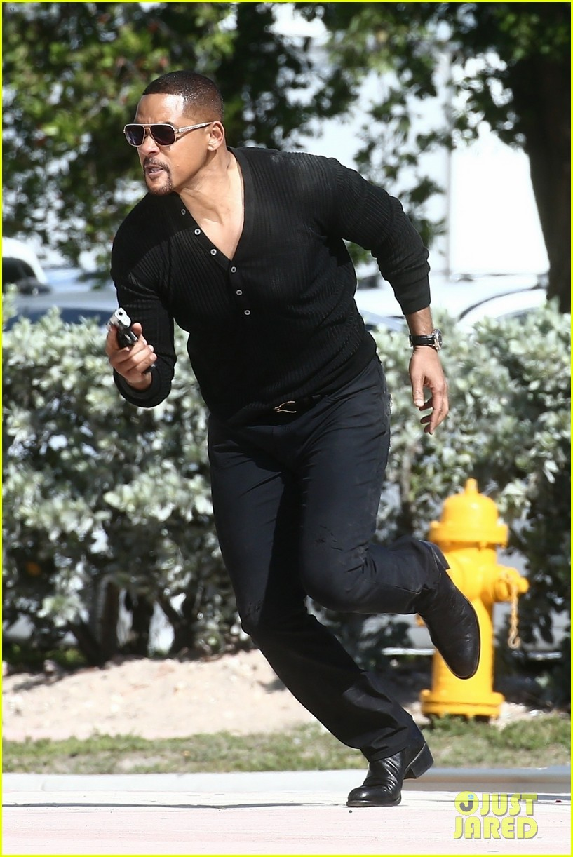 will smith shoots a bad boys action scene martin lawrence 08