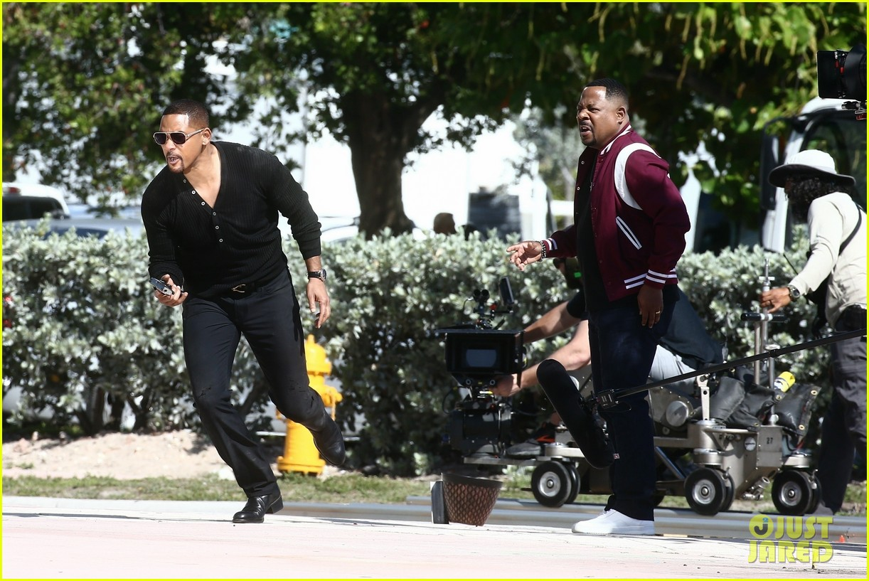 will smith shoots a bad boys action scene martin lawrence 17