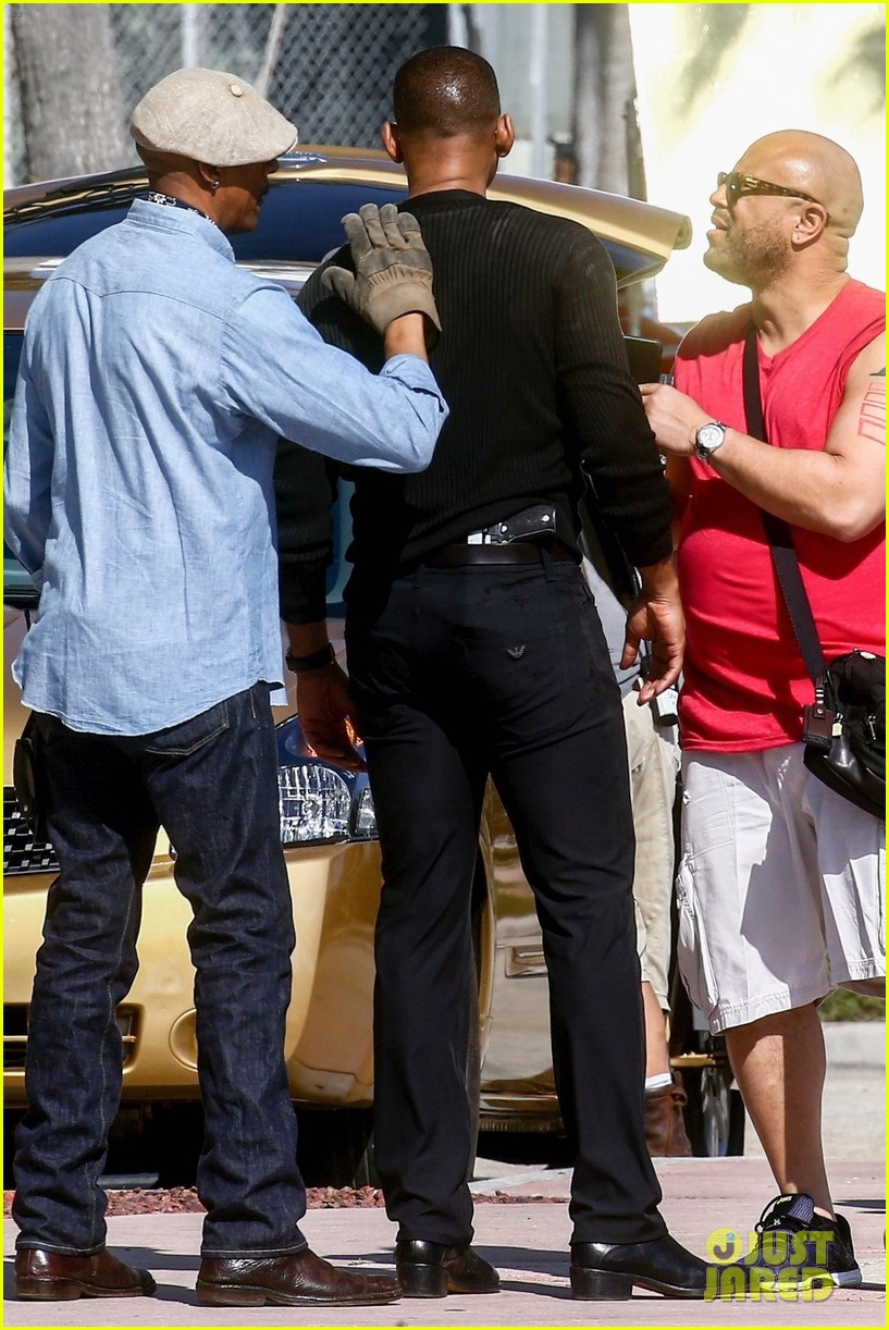 will smith shoots a bad boys action scene martin lawrence 24