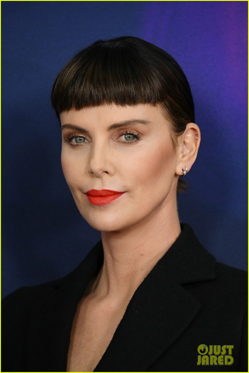 Charlize Theron Debuts New Bangs At Long Shot Nyc