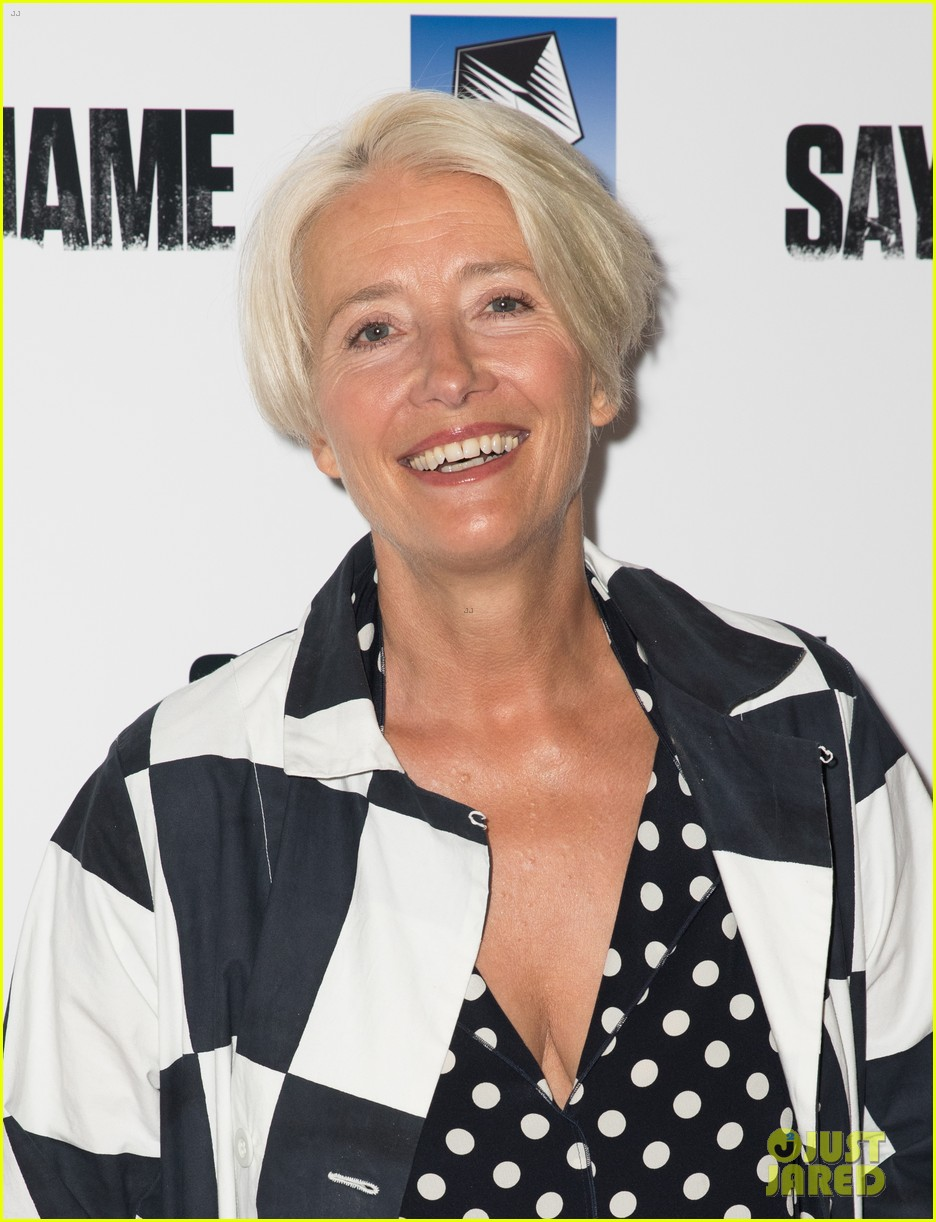 emma thompson steps out for say my name gala screening london 01