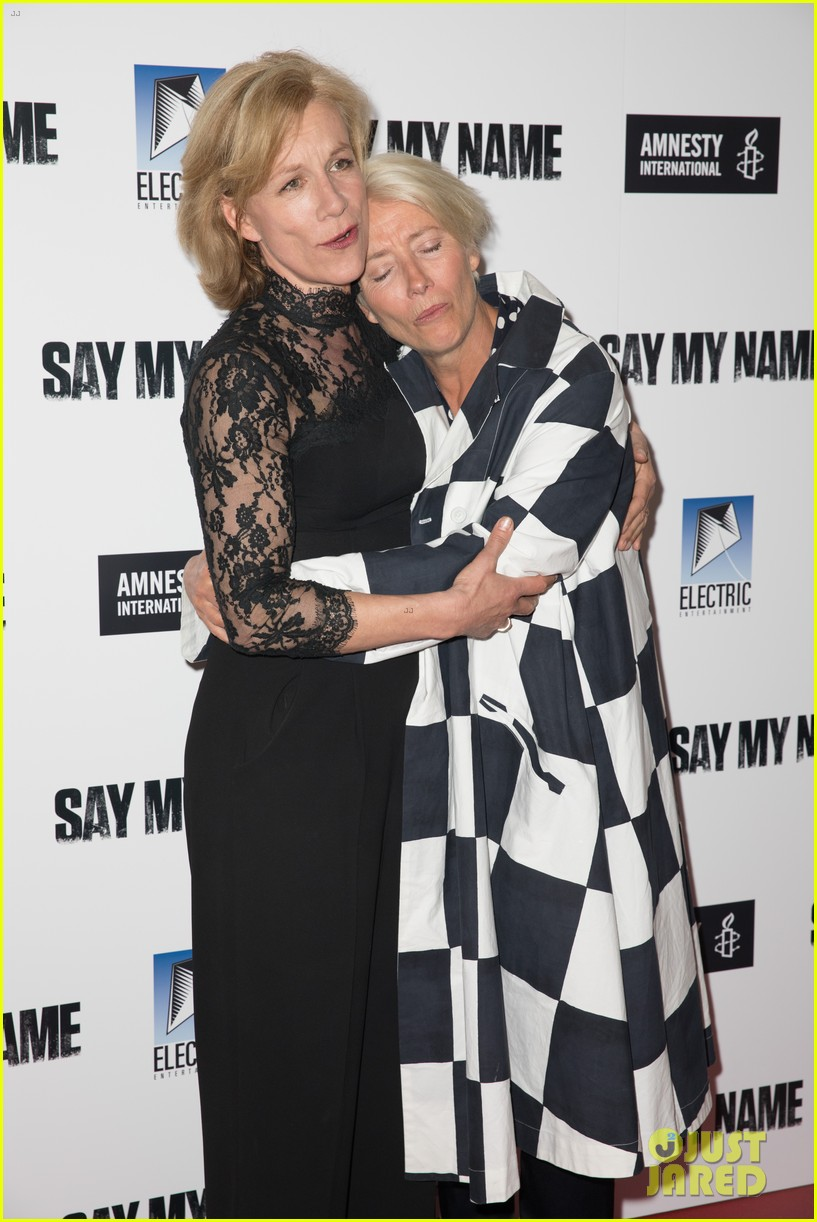 emma thompson steps out for say my name gala screening london 03