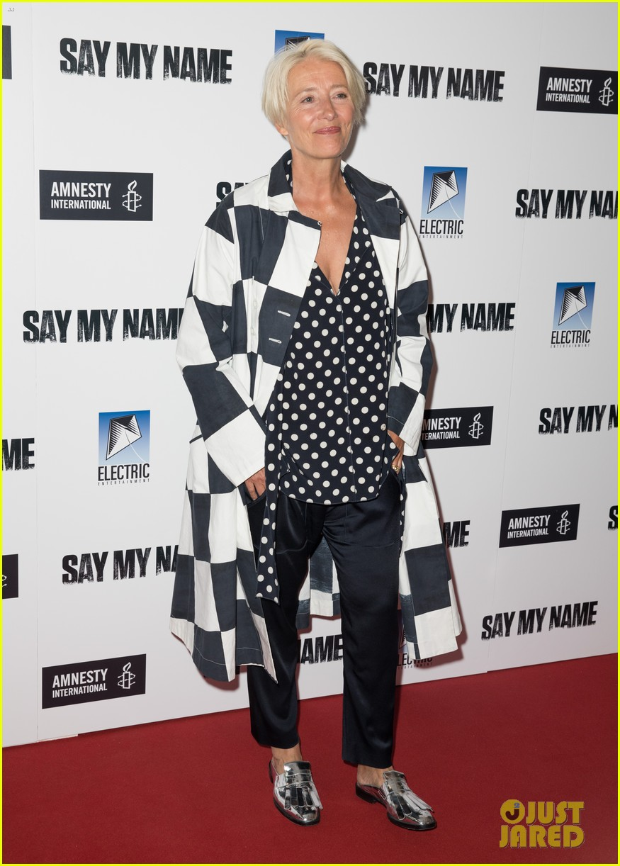 emma thompson steps out for say my name gala screening london 04