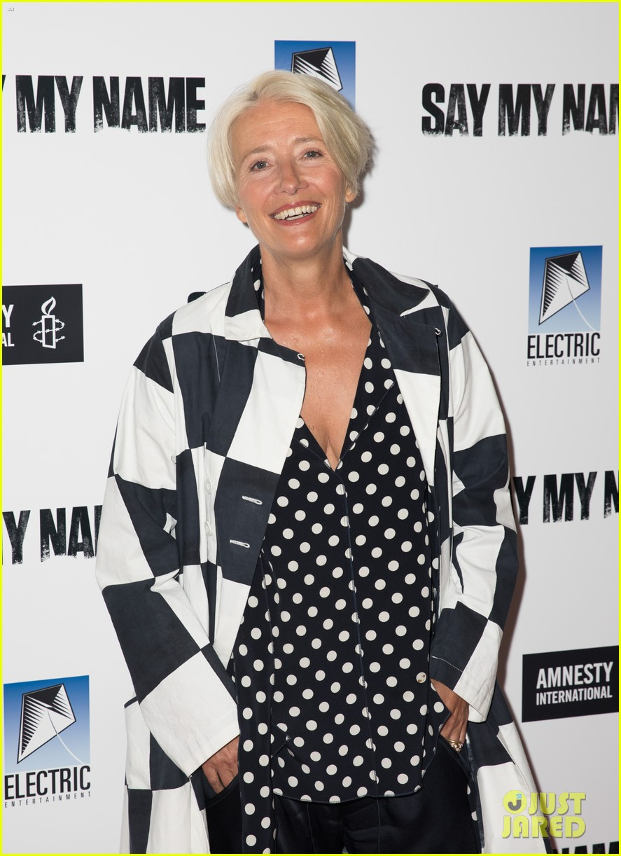emma thompson steps out for say my name gala screening london 06