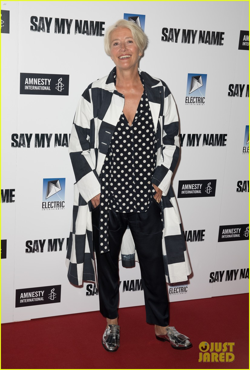 emma thompson steps out for say my name gala screening london 09
