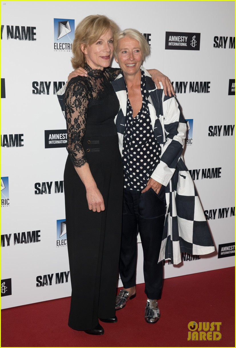 emma thompson steps out for say my name gala screening london 10