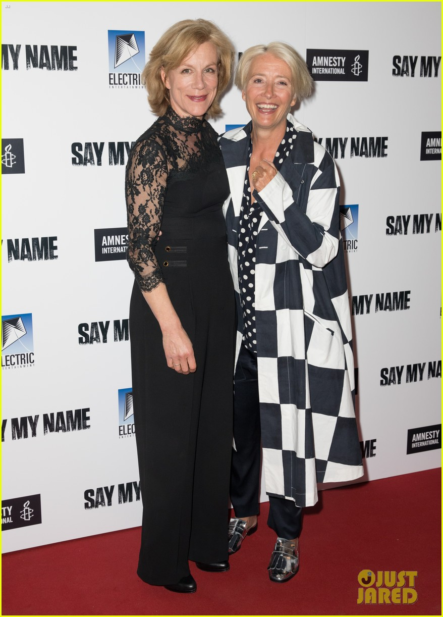 emma thompson steps out for say my name gala screening london 11