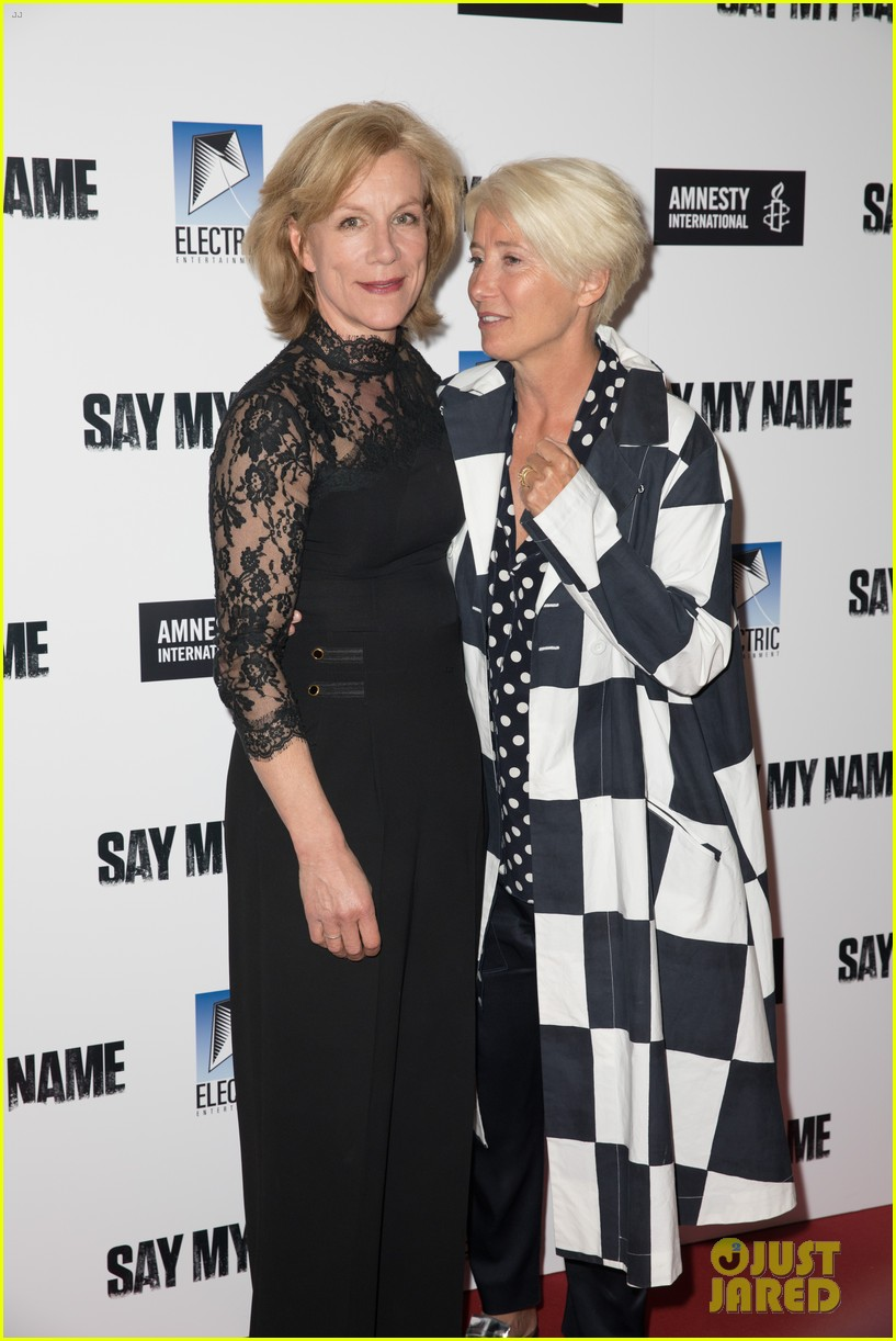 emma thompson steps out for say my name gala screening london 12