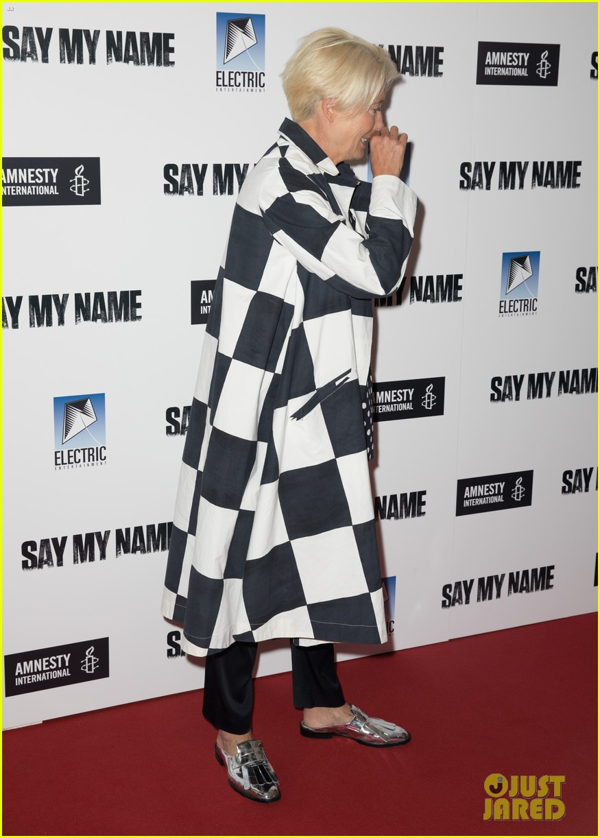 emma thompson steps out for say my name gala screening london 15