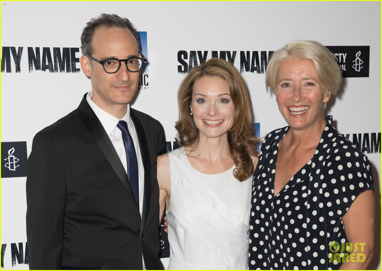emma thompson steps out for say my name gala screening london 17