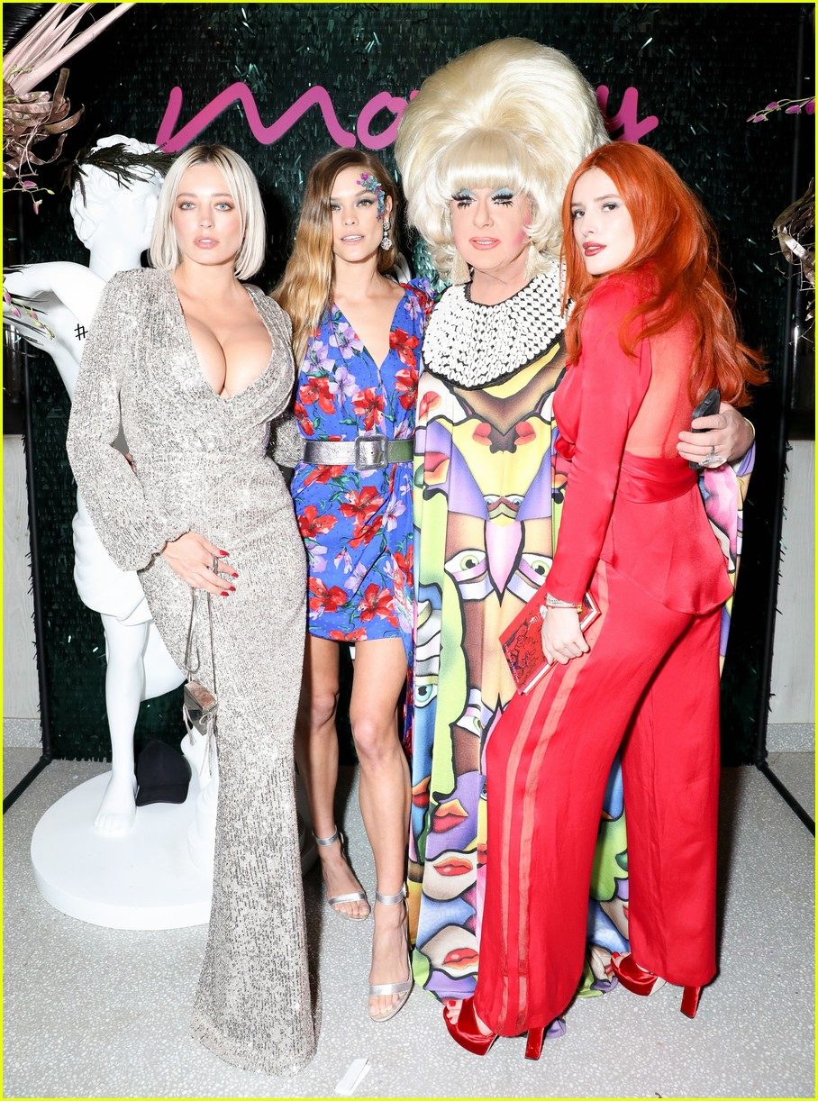 bella thorne and nina agdal team up for moxy chelseas grand opening 12
