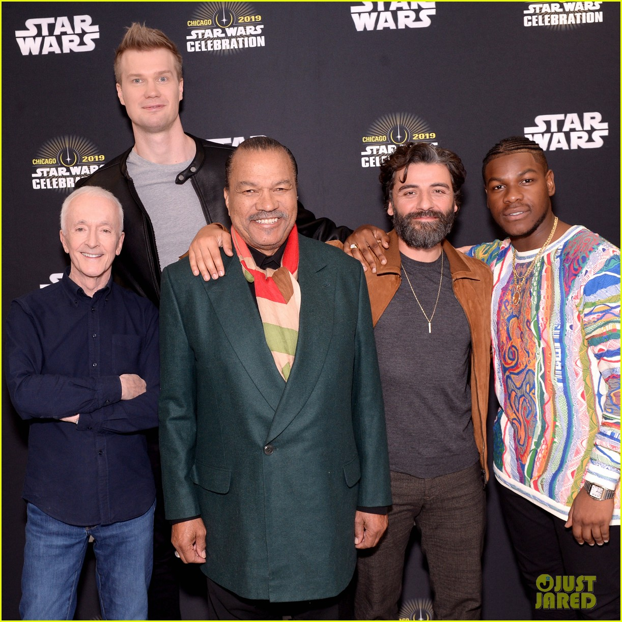 Star Wars Cast Debuts Rise Of Skywalker Trailer In Chicago Photo 4272334 Anthony Daniels Billy Dee Williams Daisy Ridley J J Abrams John Boyega Joonas Suotamo Kathleen Kennedy Kelly Marie Tran Naomi