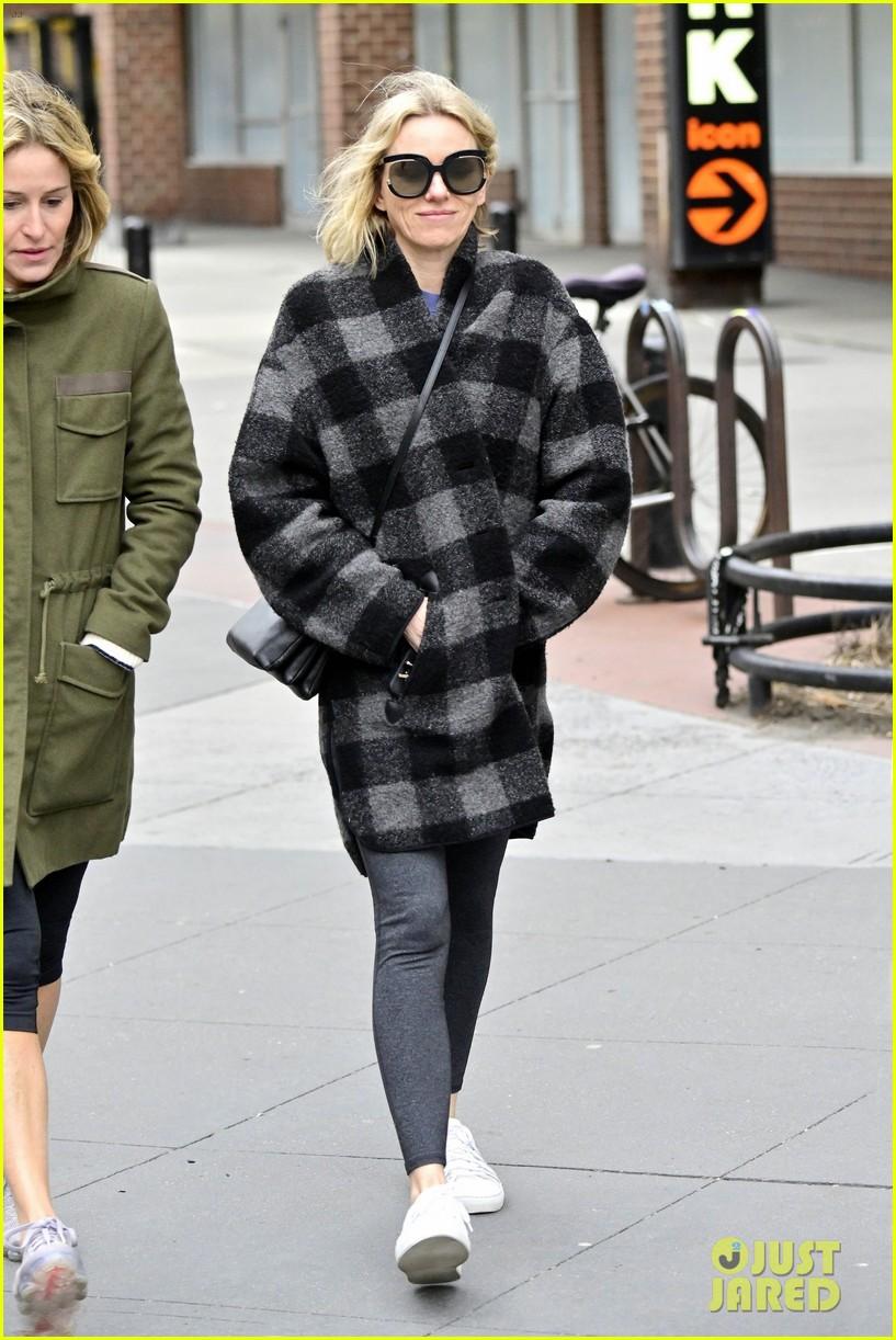 naomi watts plaid coat nyc 03