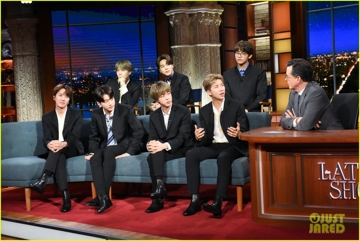 BTS late show stephen colbert beatles 034292098