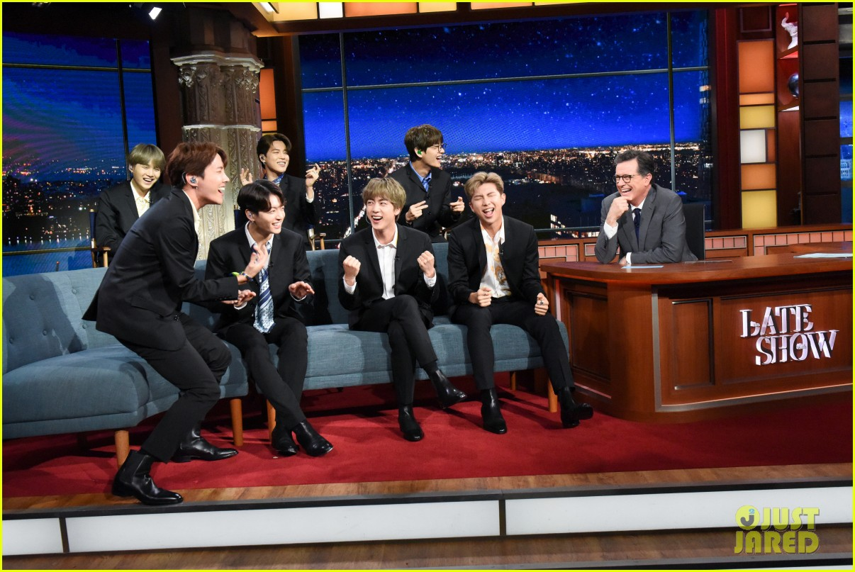 Resultado de imagen para bts the late show with stephen colbert