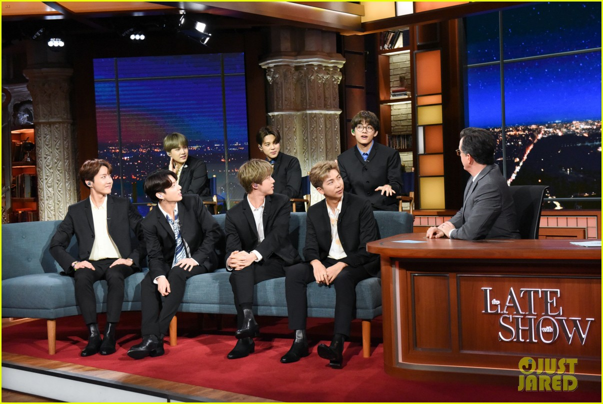 BTS late show stephen colbert beatles 054292100