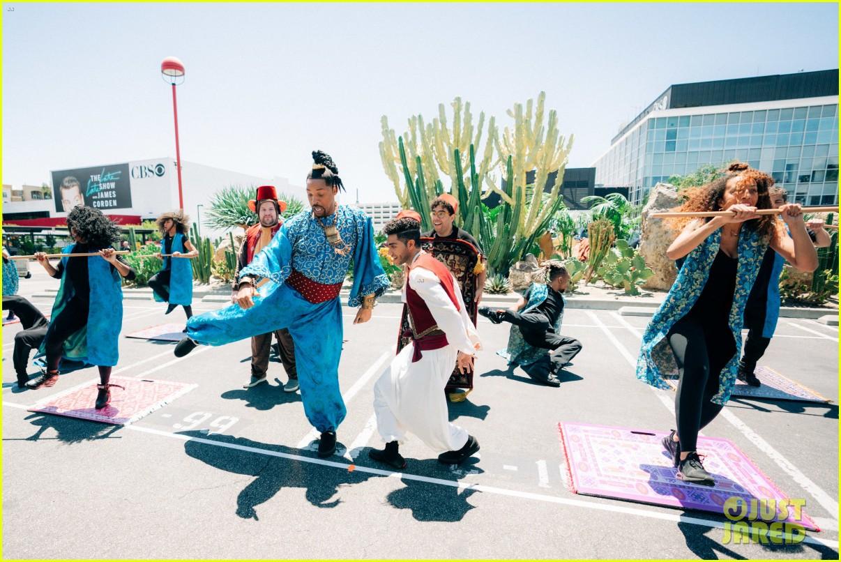 aladdin cast crosswalk musical video 18