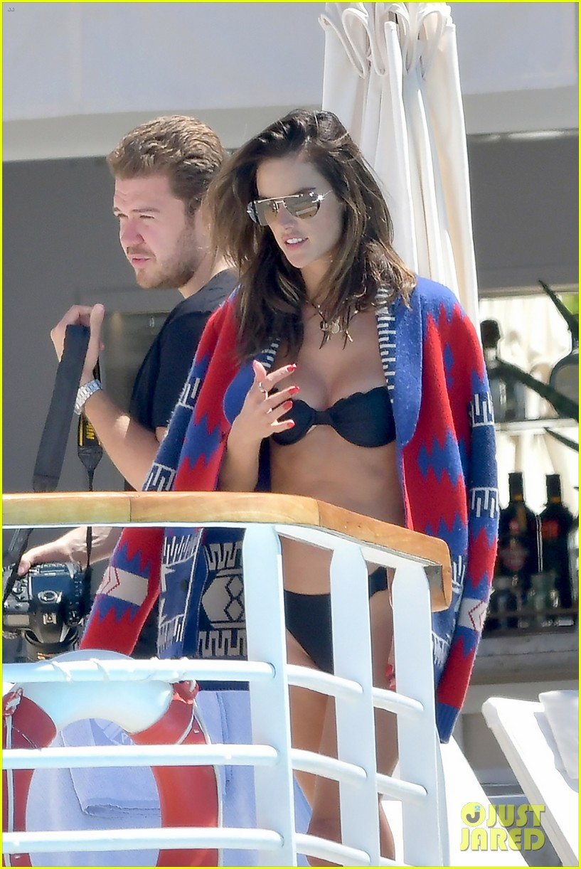 alessandra ambrosio poses in a bikini for poolside photo shoot 074292683
