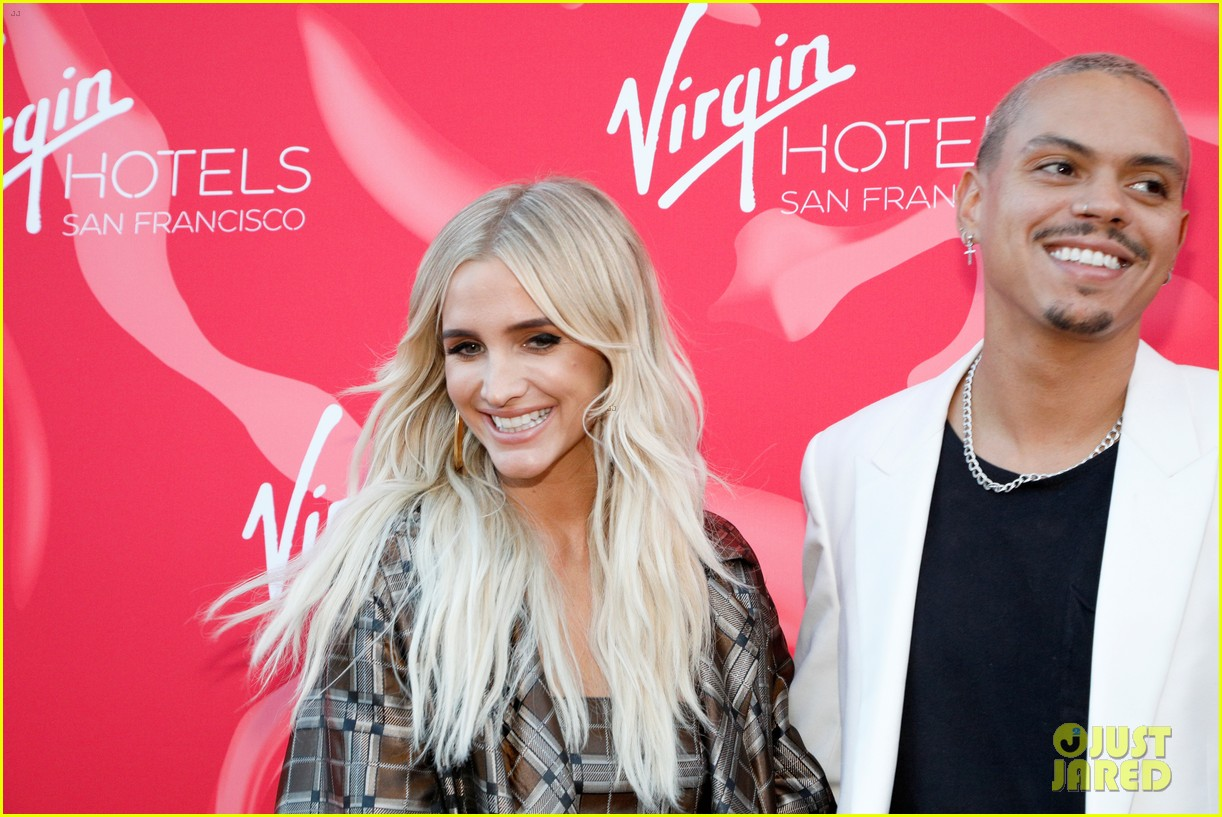ashlee simpson evan ross couple up at virgin party 044298797