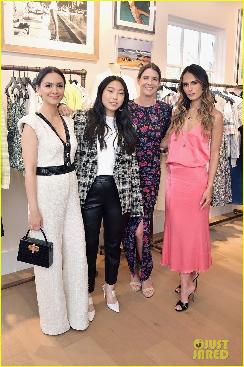 awkwafina and cobie smulders step out in style for veronica beard store opening 03