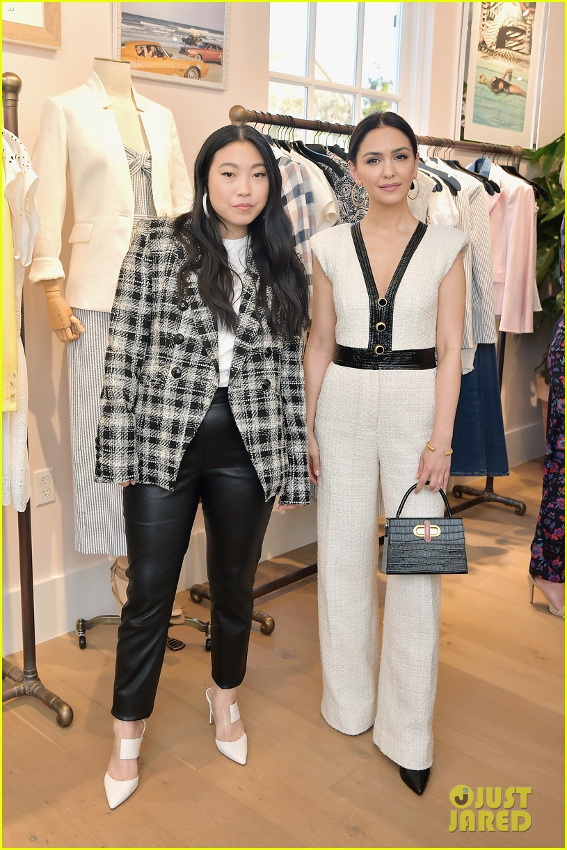 awkwafina and cobie smulders step out in style for veronica beard store opening 19