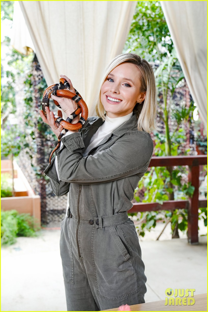 kristen bell reunites with a sloth on ellen series after her viral freak out 06