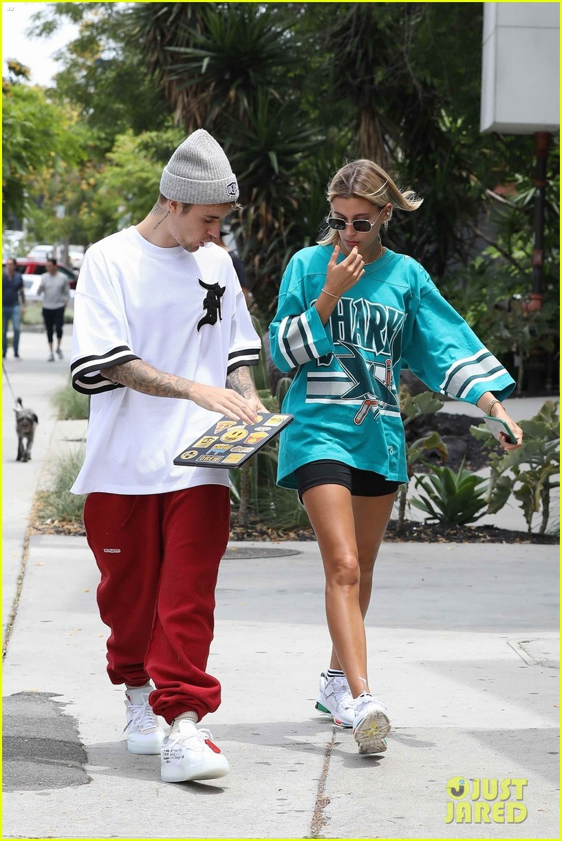 justin bieber and wife hailey enjoy weekend breakfast date 05