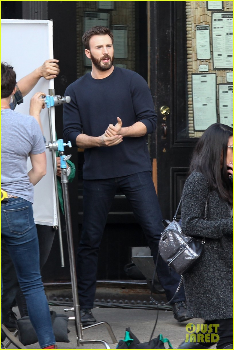 Chris Evans Looks Hot While Filming 'Defending Jacob' in Boston