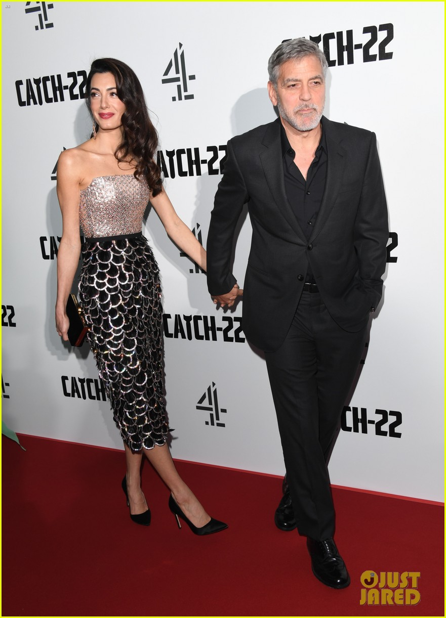 george clooney amal bring mom to catch 22 london 11