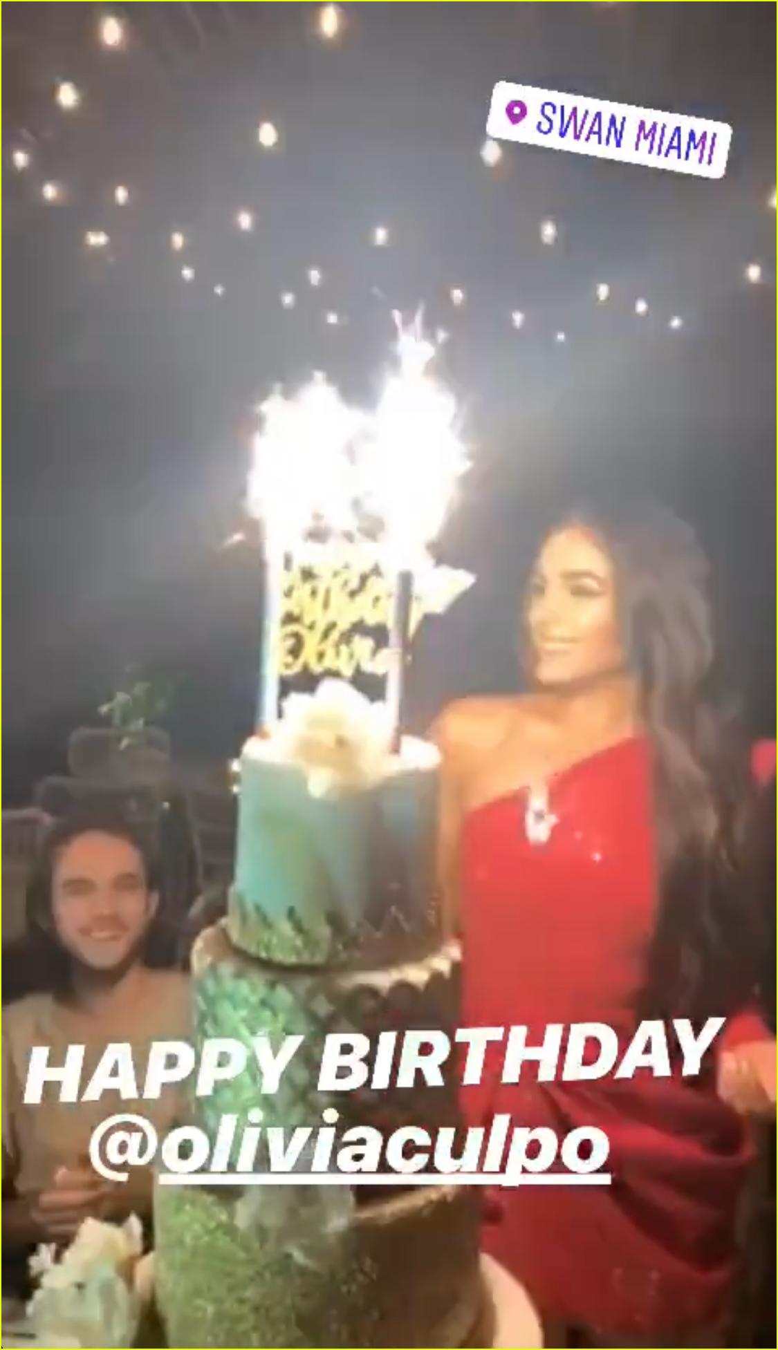 olivia culpo celebrates her birthday with zedd in miami