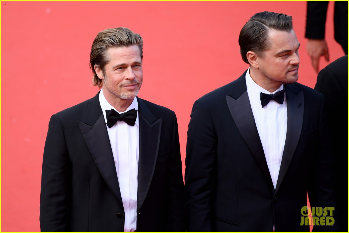 leonardo dicaprio brad pitt margot robbie hit cannes for once upon a time in hollywood 504295926