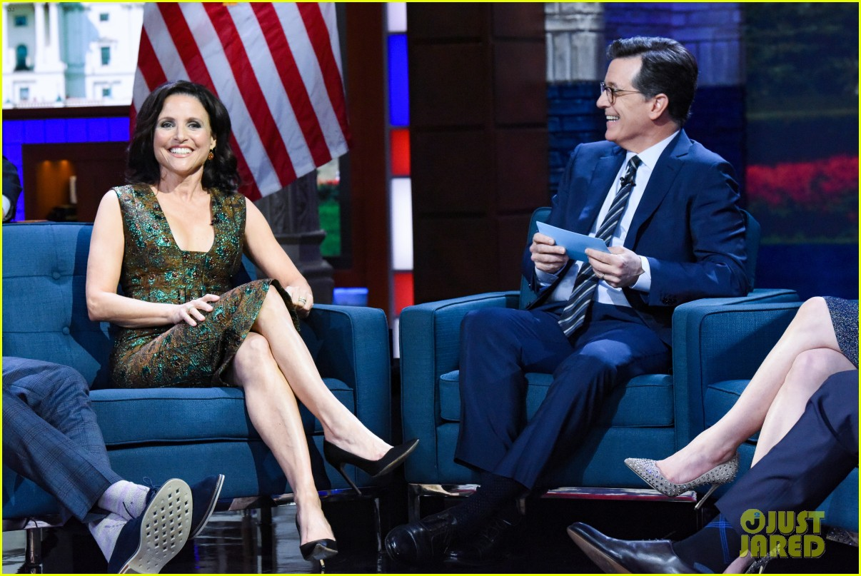 stephen colbert tells veep cast to stop destroying america in late show crossover 054289181