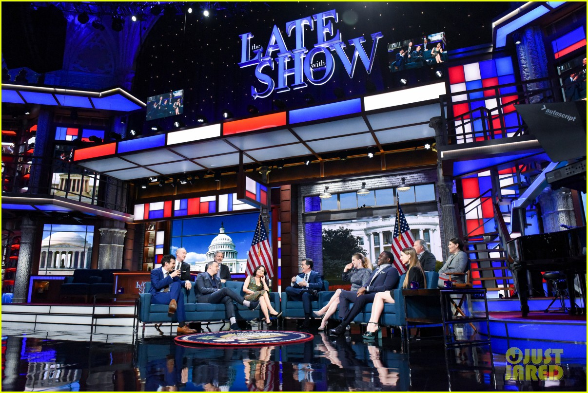 stephen colbert tells veep cast to stop destroying america in late show crossover 064289182