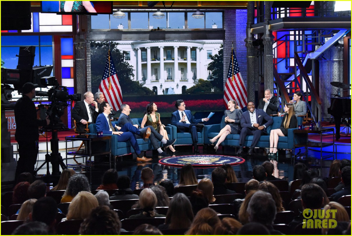 stephen colbert tells veep cast to stop destroying america in late show crossover 074289183