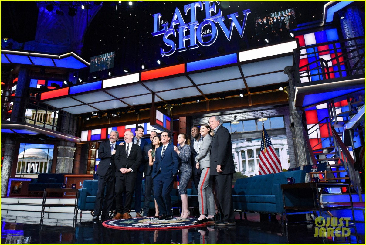 stephen colbert tells veep cast to stop destroying america in late show crossover 114289187