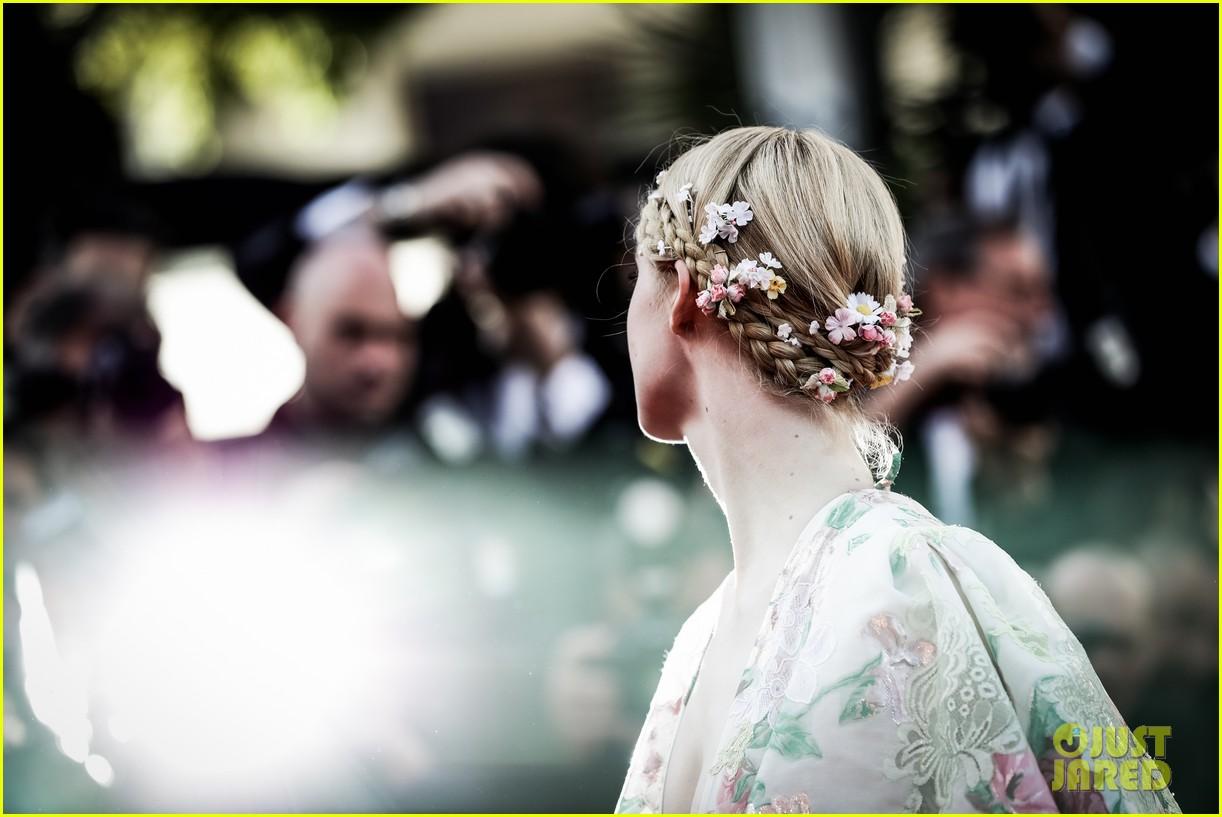 elle fanning floral gown cannes les mis premiere 104291865