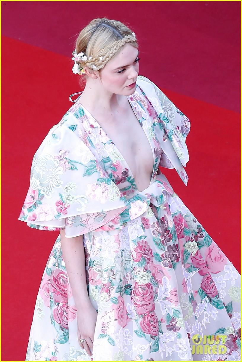 elle fanning floral gown cannes les mis premiere 154291870