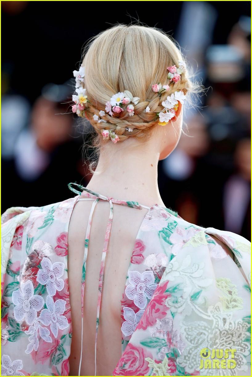 elle fanning floral gown cannes les mis premiere 224291877