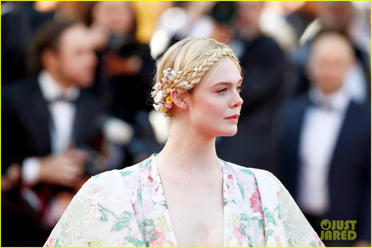 elle fanning floral gown cannes les mis premiere 244291879