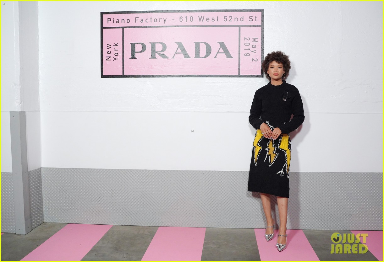 shailene woodley hailee steinfeld elle fanning attend prada resort 2020 fashion show 054282530