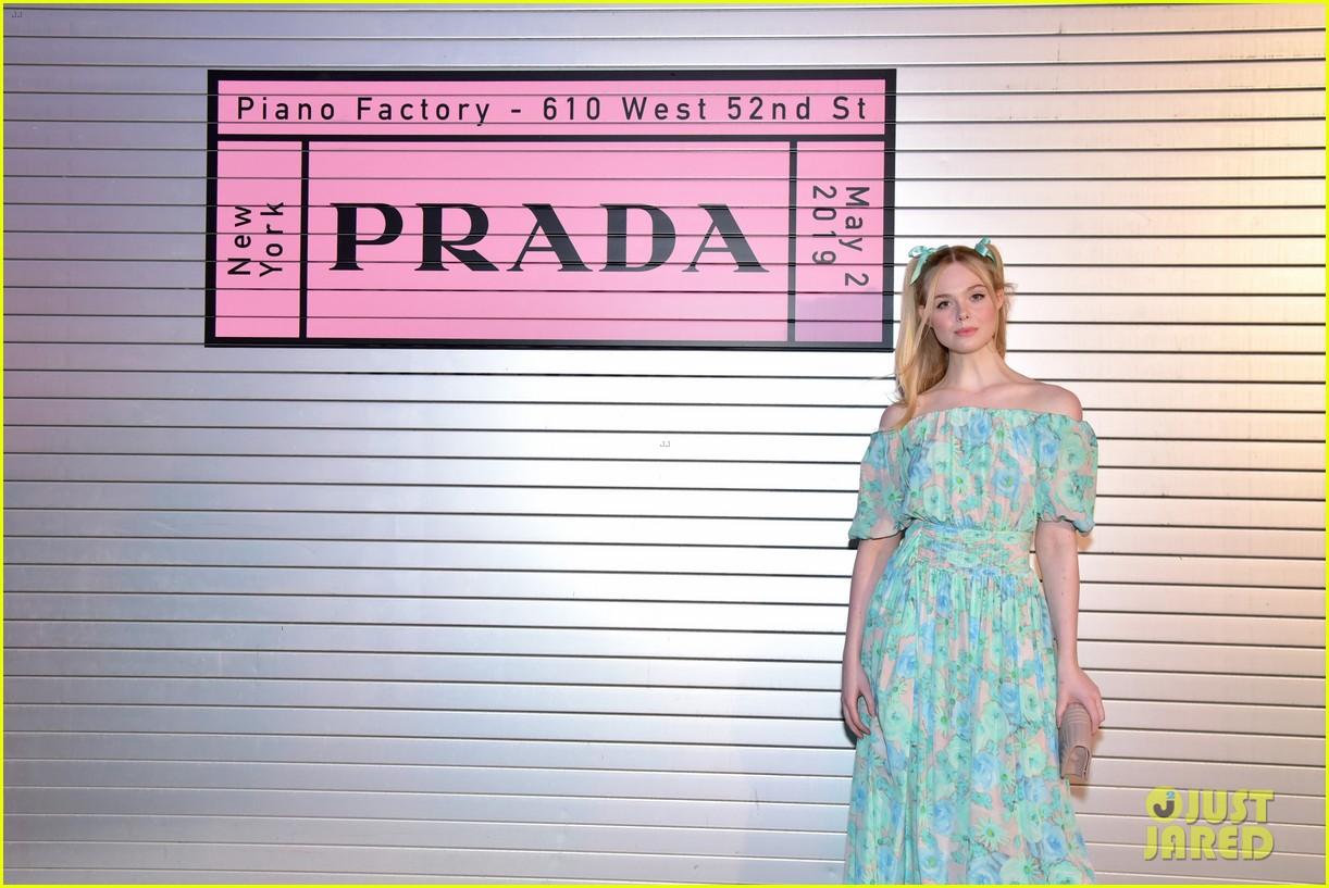 shailene woodley hailee steinfeld elle fanning attend prada resort 2020 fashion show 184282543