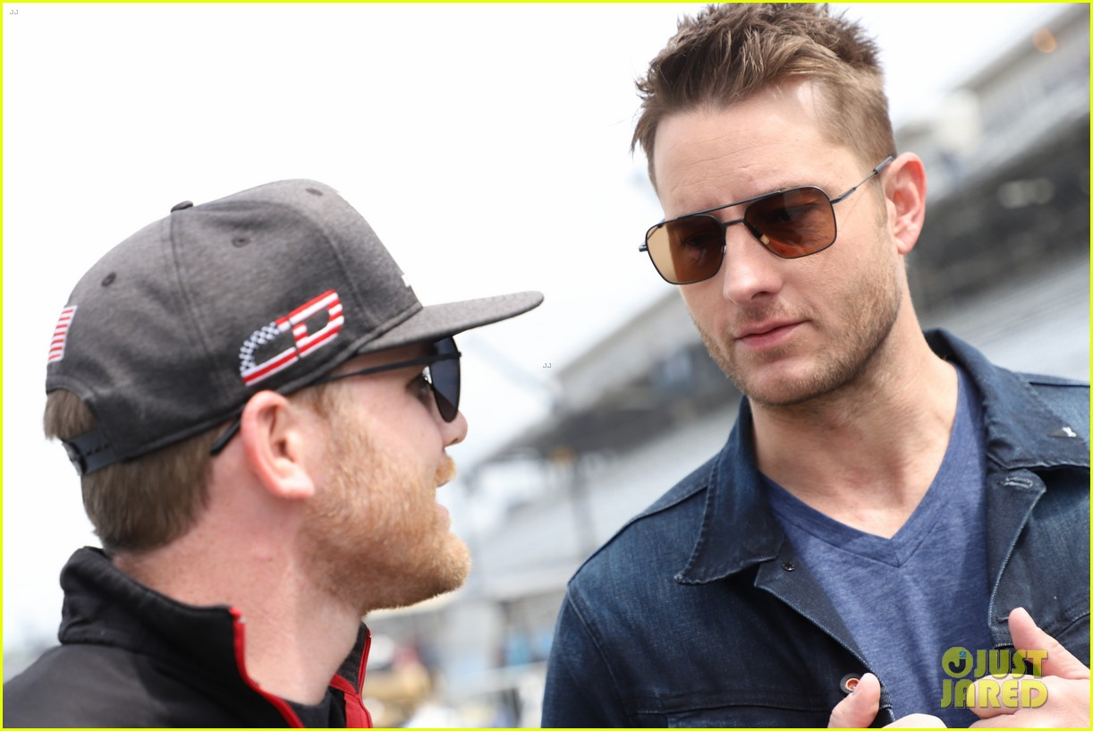 justin hartley serves as honorary starter at indycar grand prix 01