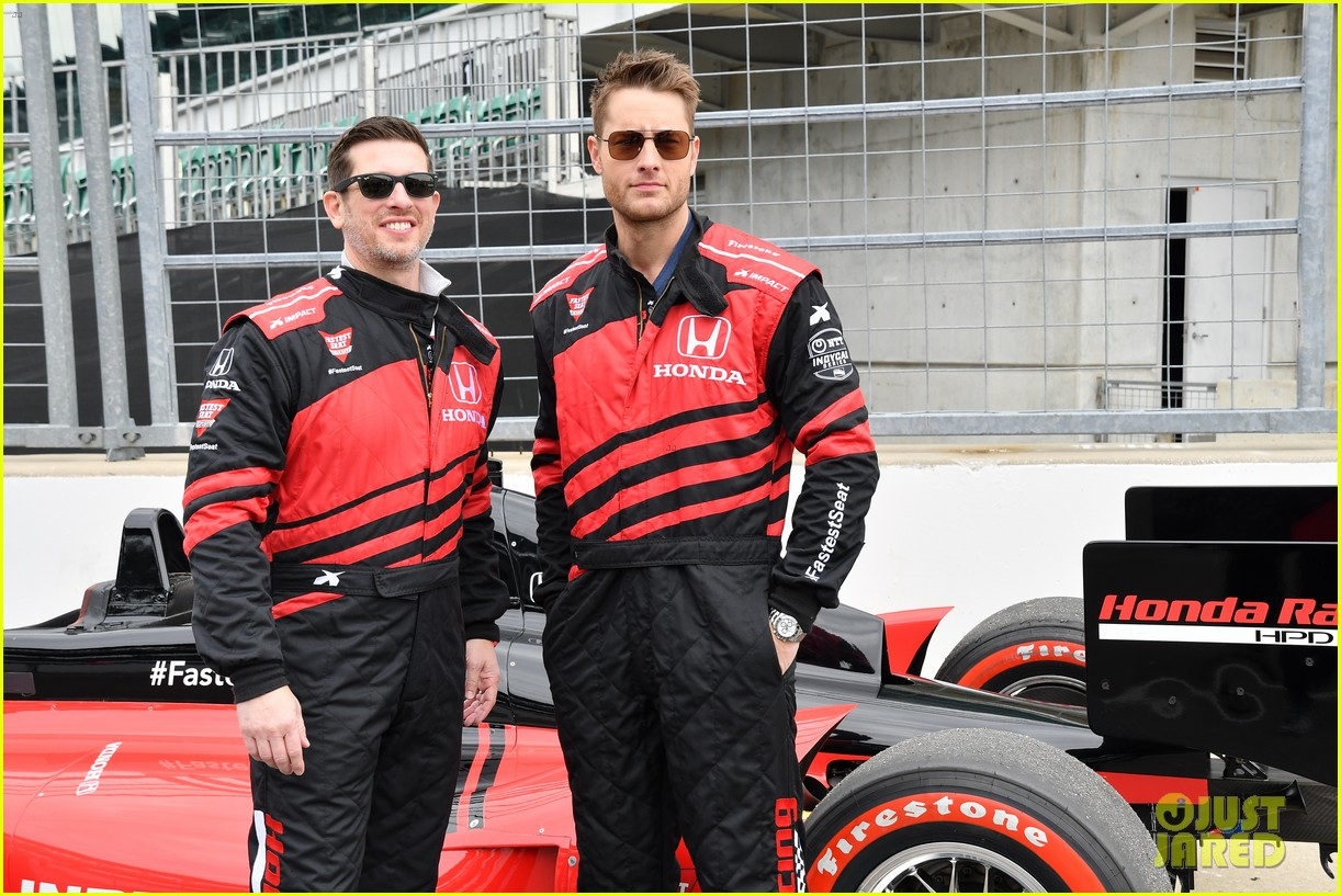 justin hartley serves as honorary starter at indycar grand prix 02