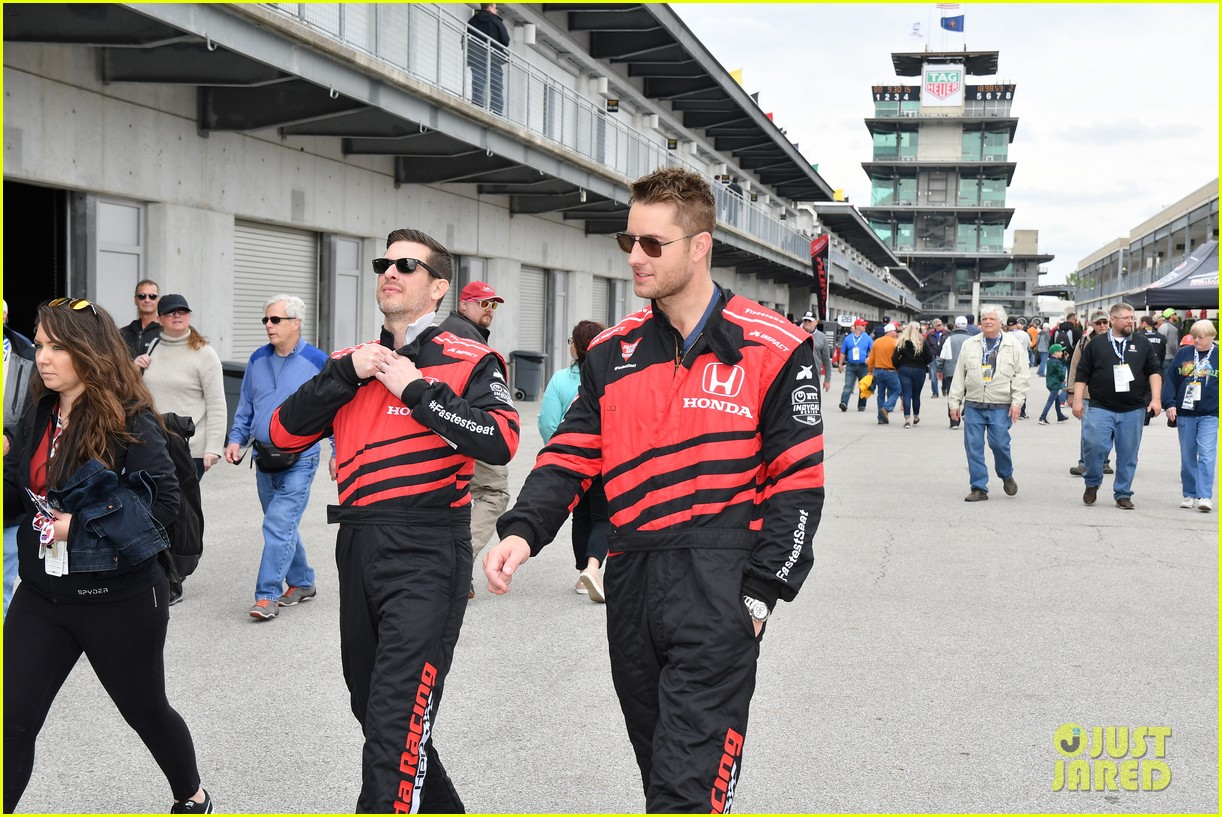 justin hartley serves as honorary starter at indycar grand prix 03