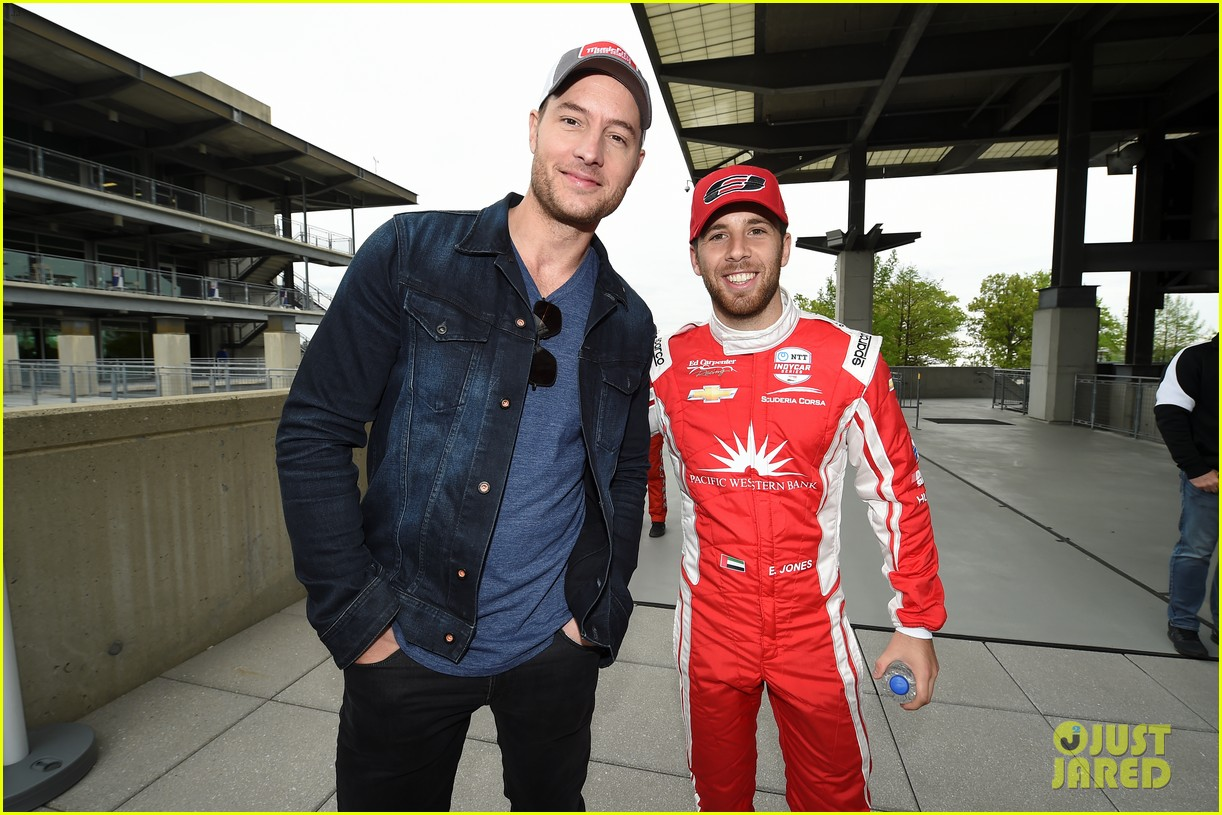 justin hartley serves as honorary starter at indycar grand prix 04