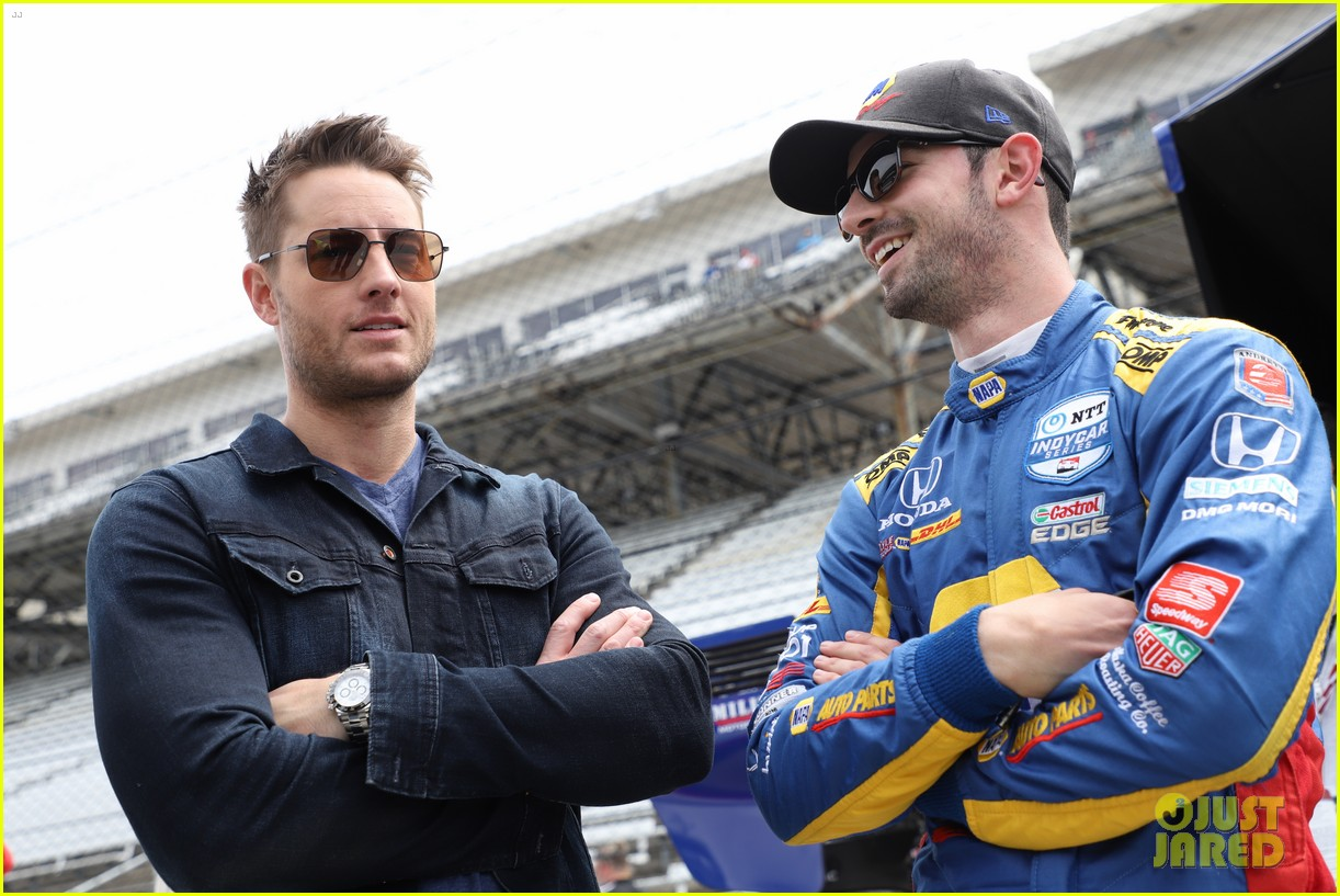 justin hartley serves as honorary starter at indycar grand prix 05