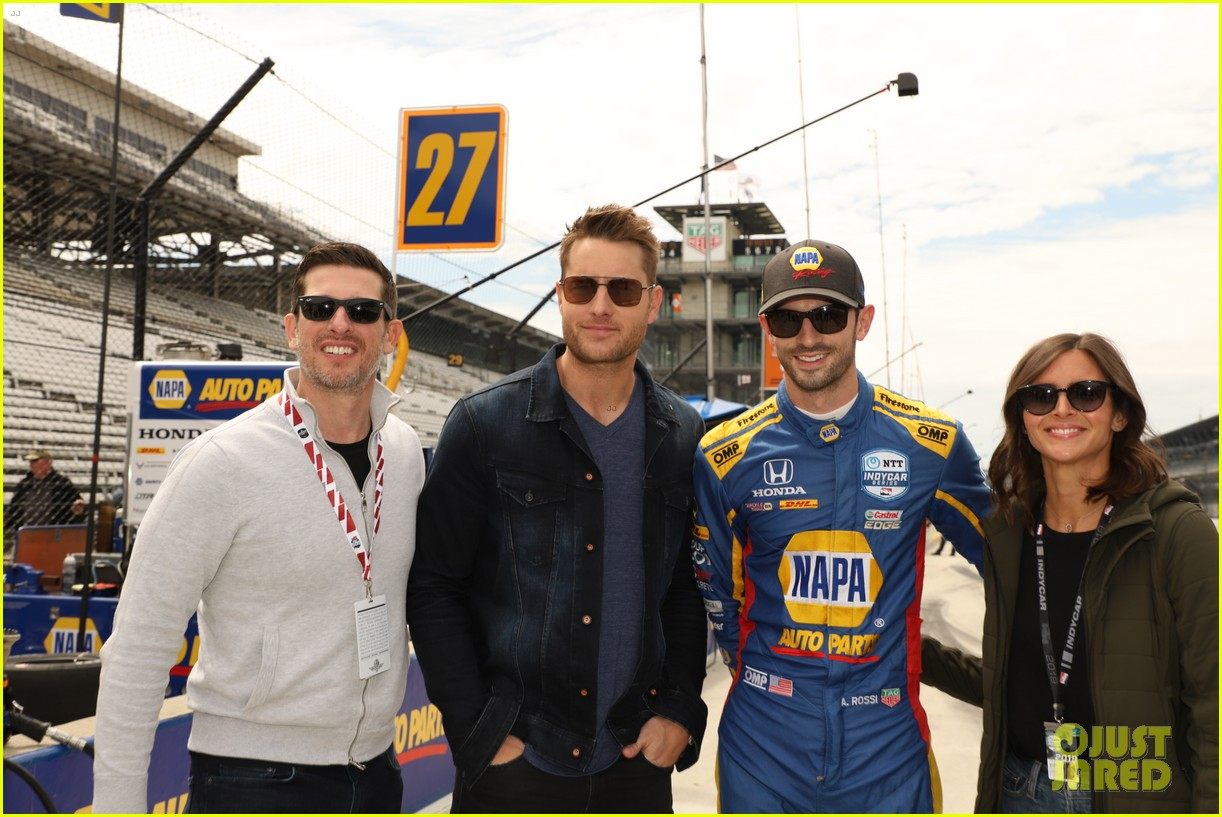 justin hartley serves as honorary starter at indycar grand prix 06